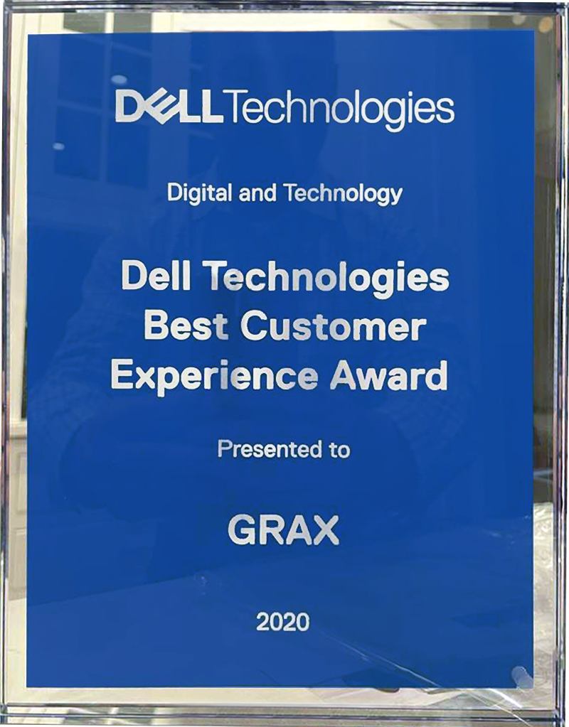 GRAX is Named the Winner of the 2020 Dell Technologies Digital and Technology Services Best Customer Experience Partner Award